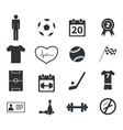 Sport icon set 2 simple vector image