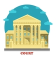 Court or tribunal courthouse entrance exterior vector image