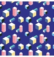 Postmodern 80s style seamless pattern vector image