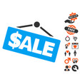 sale signboard icon with lovely bonus vector image