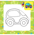 toy car for coloring vector image