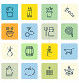 set of 16 agriculture icons includes rake desert vector image