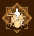 drum player graphic vector image vector image
