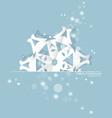 Vintage Christmas postcard with origami snowflake vector image