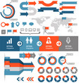 Infographics and statistic elements and icons vector image