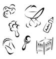 Newborn symbols vector image vector image