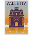 Valletta Vintage poster vector image vector image