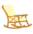 Wooden rocking chair vector image