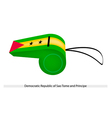 A Whistle of The Sao Tome and Principe vector image