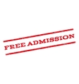 Free Admission Watermark Stamp vector image