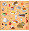 meals and dishes vector image