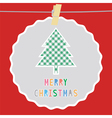 Merry Christmas greeting card51 vector image