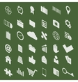 modern isometric icons set vector image
