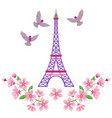 paris embroidery pattern vector image