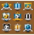 Soccer team emblems vector image