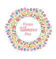 womens day march 8 multicolour floral wreath vector image
