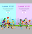 two summer sport banners vector image