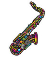 jazzy colorful music background vector image vector image