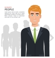 elegant businessman isolated icon design vector image