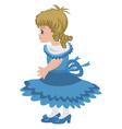 Beautiful little girl vector image