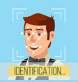 biometric face identification human face vector image