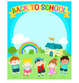 cute multiracial children joyful at school vector image