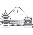 japanfuji line icon sign on vector image