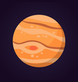 jupiter planet isolated in vector image