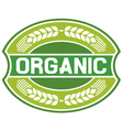 organic label vector image