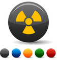 Radiation icons vector image