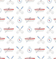 Seamless pattern with water sport equipment vector image