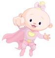 Super baby girl vector image