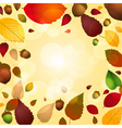 Autumn leaf and acorn background vector image vector image