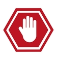 stop signal classic isolated vector image