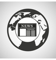 globe news concept icon graphic vector image