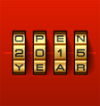 Open new 2015 year card vector image vector image