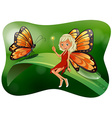 Beautiful fairy with butterfly vector image