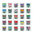 Set of national stamps 06 vector