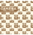 Old TV and still camera seamless pattern vector image