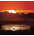 Nature sunset background vector image