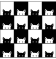 Black White Cat Chess board Background vector image