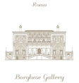 Borghese Gallery vector image