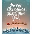Christmas greeting card Xmas vector image
