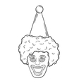 head of the clown vector image