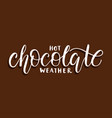 hot chocolate weather vector image
