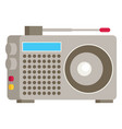 radio flat icon vector image