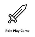 sword line icon vector image