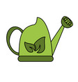 watering can with leaves icon image vector image