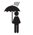 man icon with dog umbrella3 resize vector image
