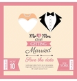 wedding invitation concept card vector image